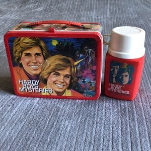 Vintage 70's Hardy Boys Mysteries Lunch Box and Thermos